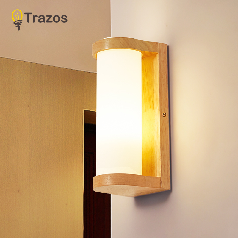 TRAZOS Japan Style Wall Light With Grass Lampshade Applique murale Wooden Nordic Reading Wall Sconce Light Fixture цена 2017