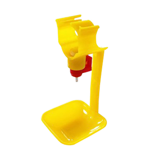 10Pcs Poultry Chicken Duck Hanging Drinking Water Nipple Drinker Feeder With Cup #X0158Q# Drop shipping