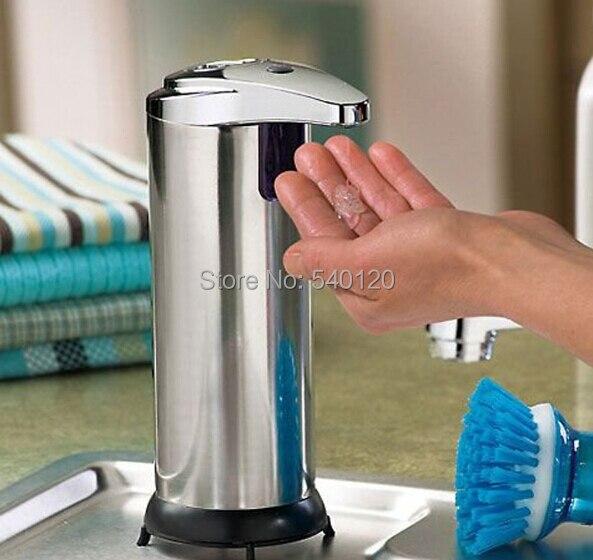 250 ml en acier inoxydable en ABS chrome fini distributeur de désinfectant pour les mains capteur infrarouge distributeur de savon