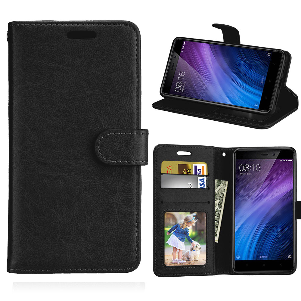 Card Wallet Flip PU Leather 5.0For Xiaomi Redmi 4 Pro Case For Xiaomi Redmi 4S Cell Phone Back Cover Case