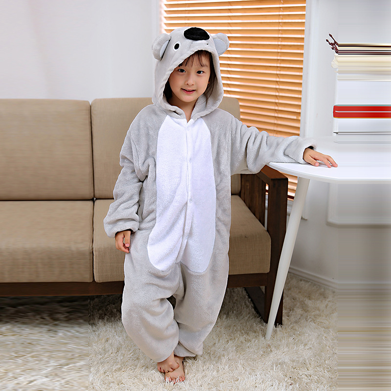 2019 Herbst Winter Kigurumi Pyjamas Für Mädchen Kinder Pyjama Baby Jungen Kleidung Nachtwäsche Pyjamas Tier Kapuze Cosplay