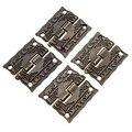 50 unids/lote 1 Pulgadas Antiguo Impresión de Envases Caja De Regalo De Madera Bisagra de Aleación de Zinc 26x23mm con el tornillo de Nuevo llegada