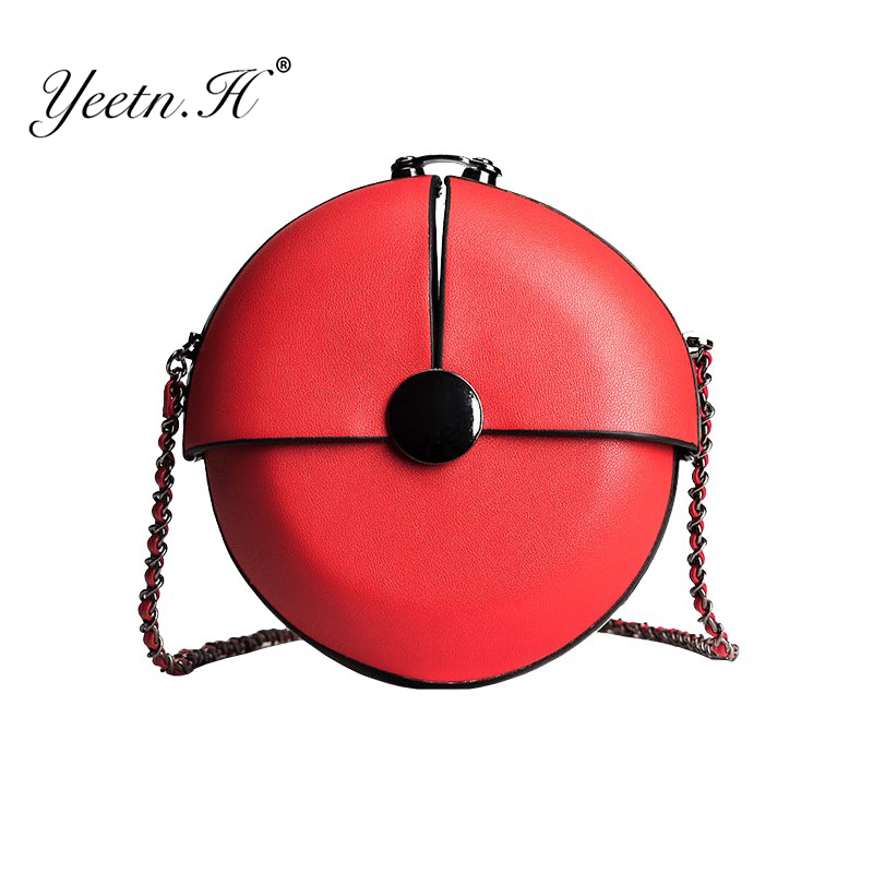 Yeetn.H Chain bag female high quality new simple wild buckle small round bag cute mini shoulder Messenger bag Y2253 top quality mini chain bag casual small bag mobile wallet shoulder bag