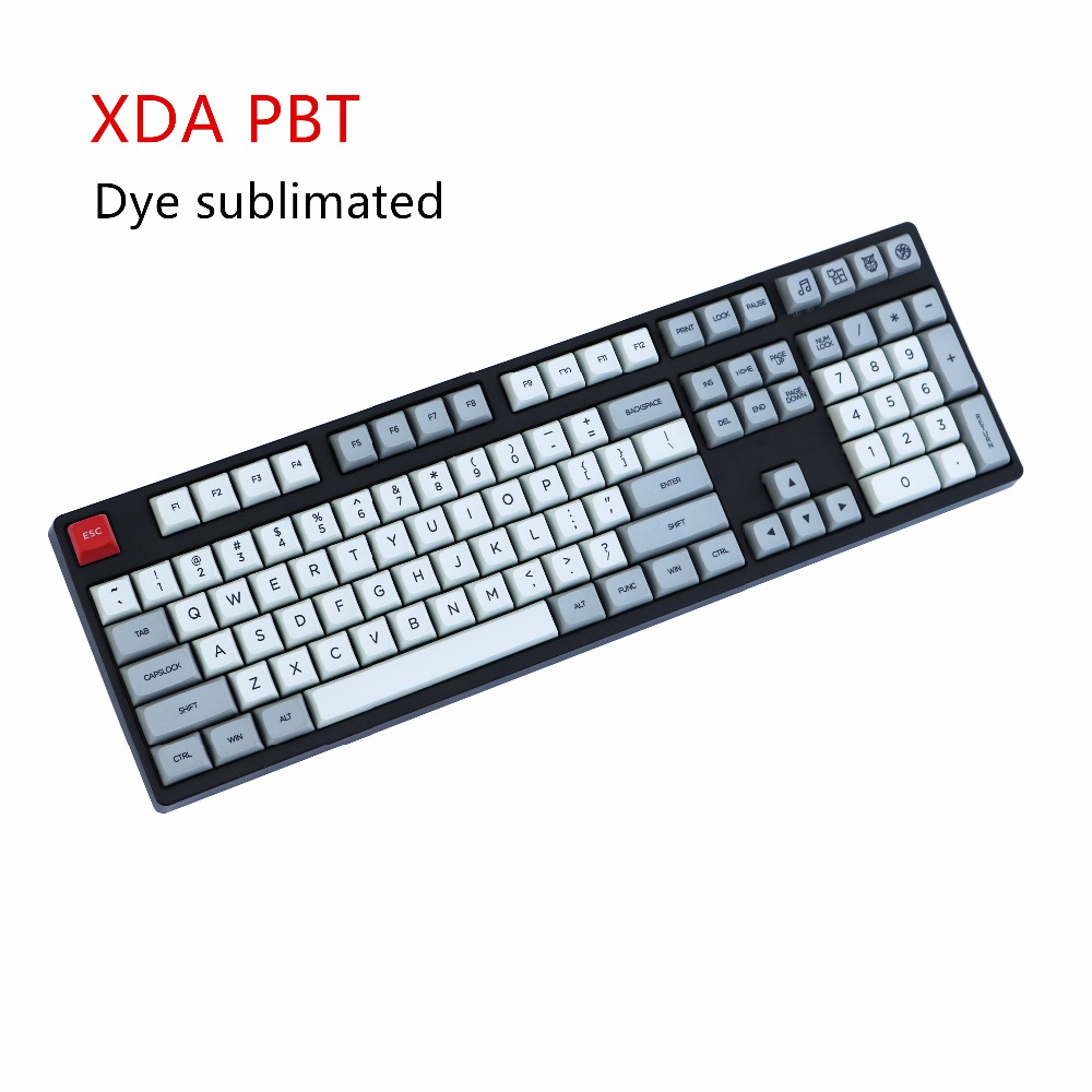 XDA keycaps xds108 Dye-sub Similar to DSA For MX Mechanical Keyboard Ergo Filco Leopold Noppoo Planck