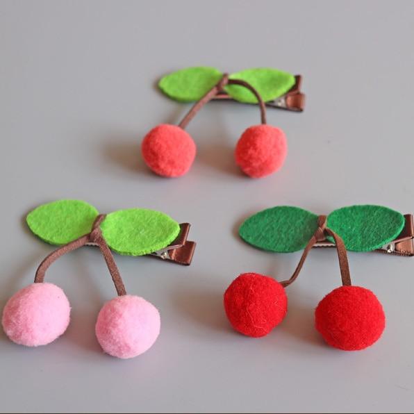 1 PCS  New Fashion Cute Fruit Cherries Student Hairpins Girls Hair Accessories Children Headwear Baby Hair Clips Headdress игрушка air fun e2208 dt