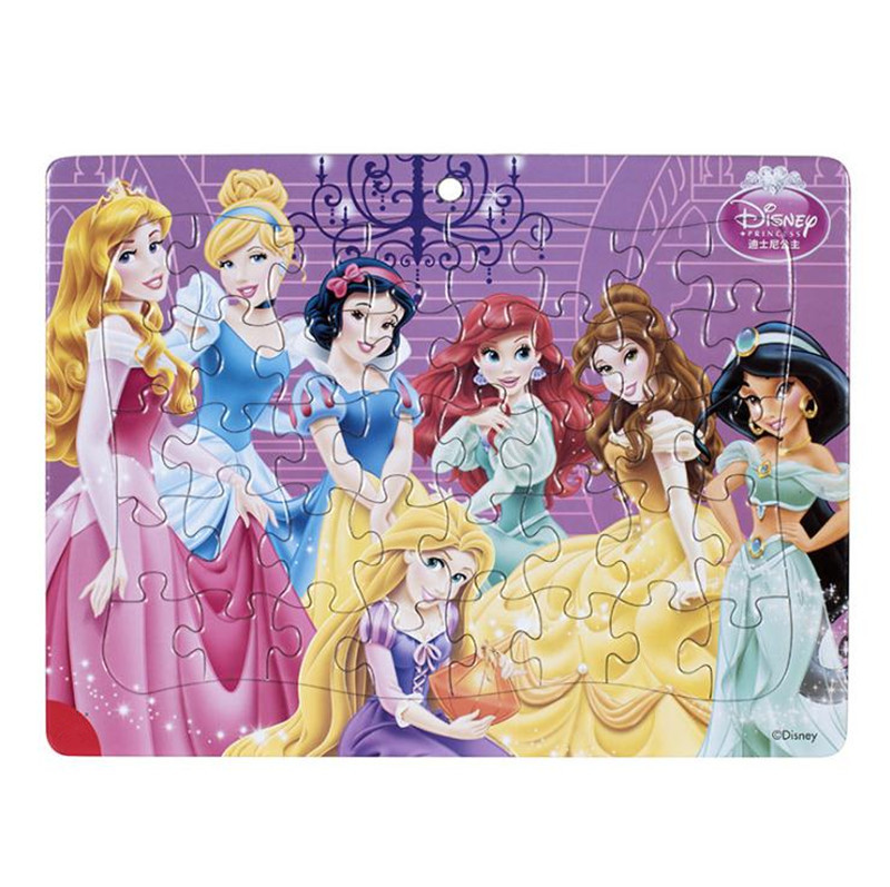 Hot Disney Princess Cinderella Ariel Rapunzel 40/60/48 Pcs Children Puzzle Educational Toys Boy Girl Birthday Present