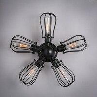 Американский Винтаж промышленности Лофт Эдисон вентилятор потолочный светильник гладить Кофе лампа Кухня обеденный Гостиная современный