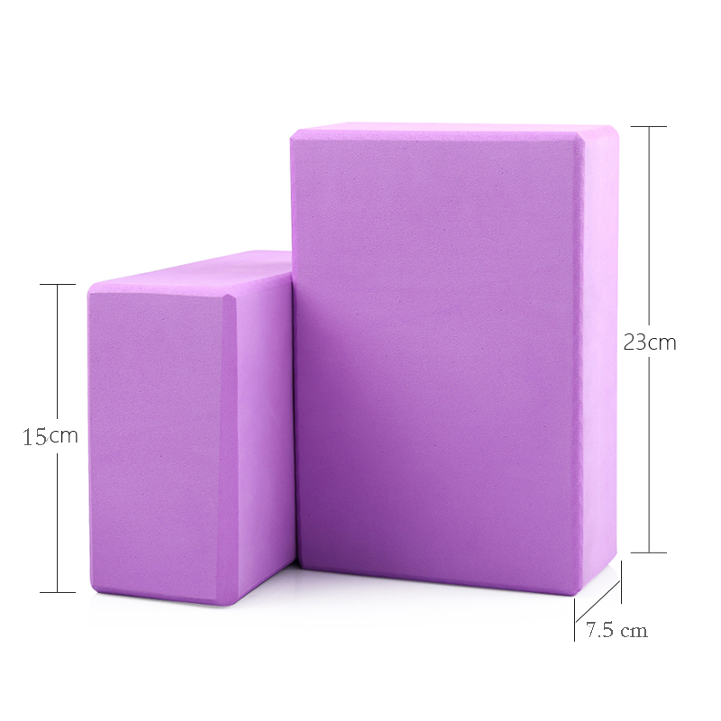 5 Colors Pilates EVA Yoga Block Brick Sports Exercise Gym Foam Workout Stretching Aid Body Shaping Health Training (2)