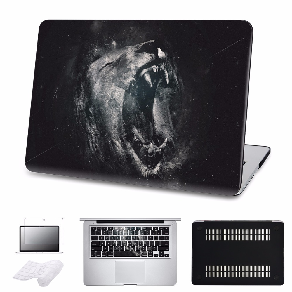LABC Macbook Pro 13 inch Case 2016 Model Matte Clear Hard Shell Case Black