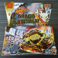 1 Pcs Beyblade Metal Fusion 4D Set L-DRAGO GOLD DF105LRF+Launcher Kids Game Toys Christmas Gift Gyroscope Lct_026