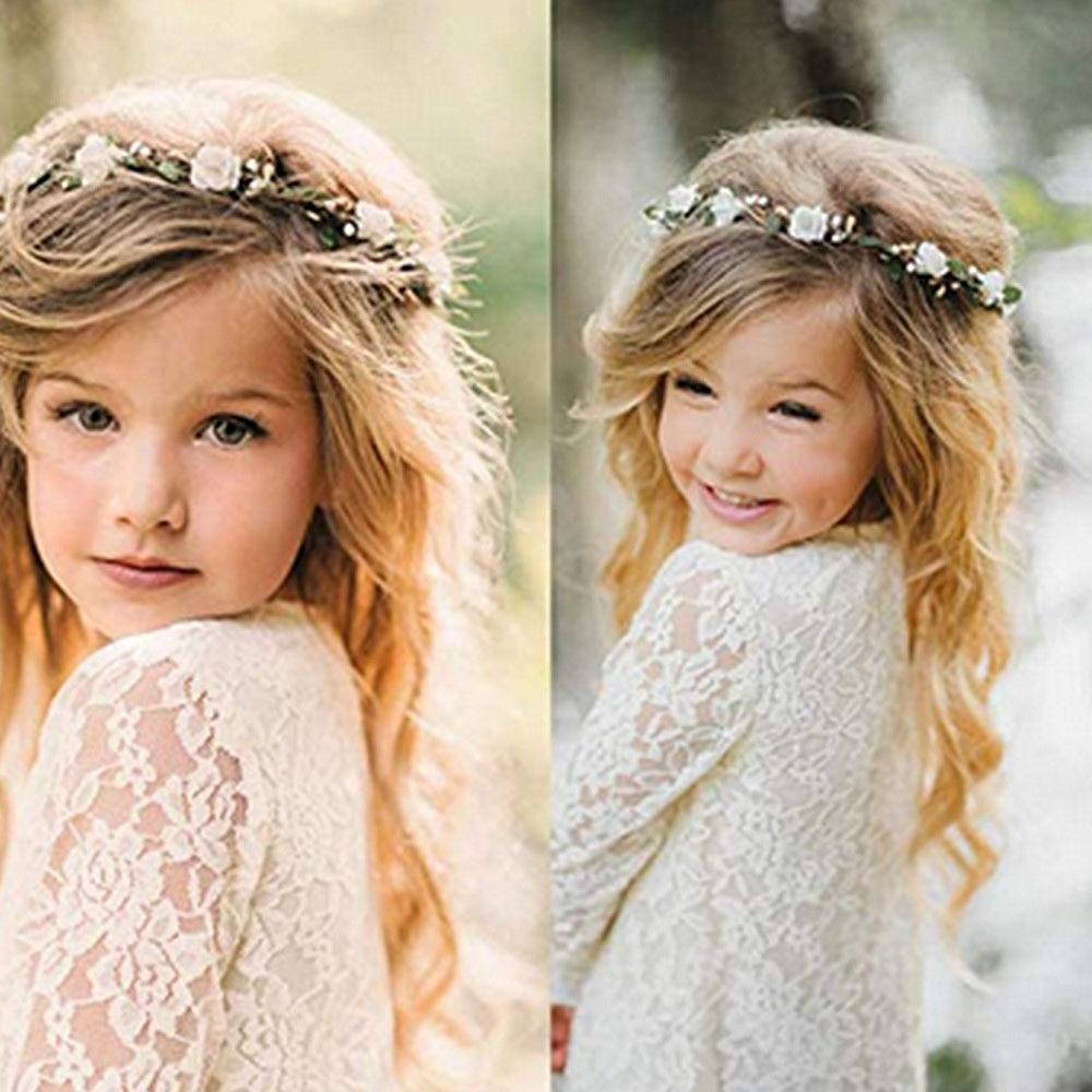 Beach Headwear Multicolor Artificial Flower Silk Head Wreath Floral Garland Wedding Headdress Bride Bridesmaid Hair Photo