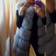 Genuine Fox Fur Vest,Real Fur Vest,Natural Furs Waistcoat,Winter Jacket Women,Silver Fox Fur Coat,Casaco 6XL,Flufly Vest V0061