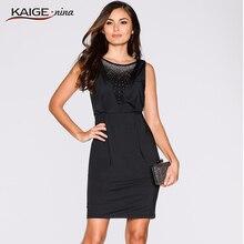 Kaigenina Новый Лидер продаж элегантные Для женщин Чистый Цвета Платья для женщин с молнией sleevlesses сексуальное вечернее платье 9087