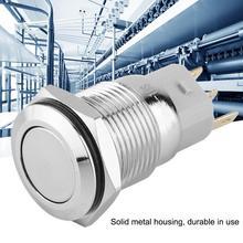 цена на 40pcs 16mm Self-locking Metal Push Button Switch Flat Head 3-Pin rotary switch wireless switch