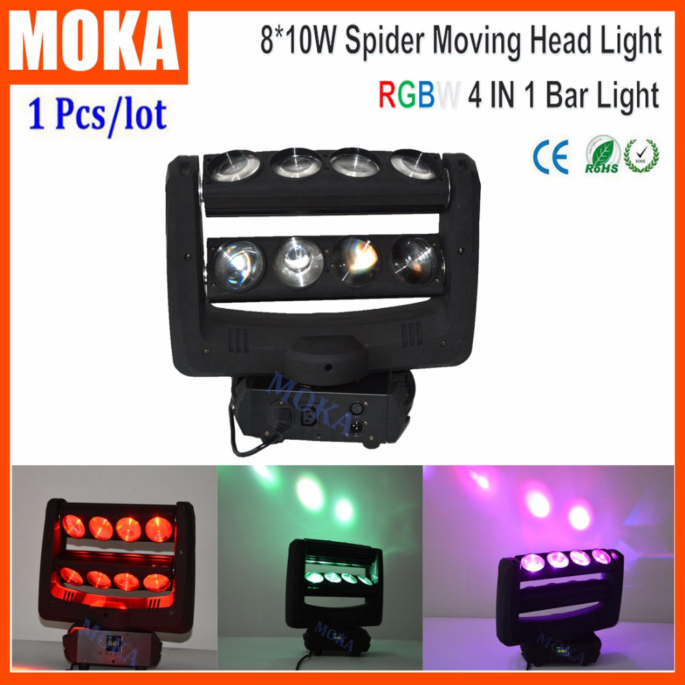 Two Lines Led Moving Head Beam Light 8PCS*10W Spider Stage Light for Bar Show Event Disco beam light stage light led moving - title=
