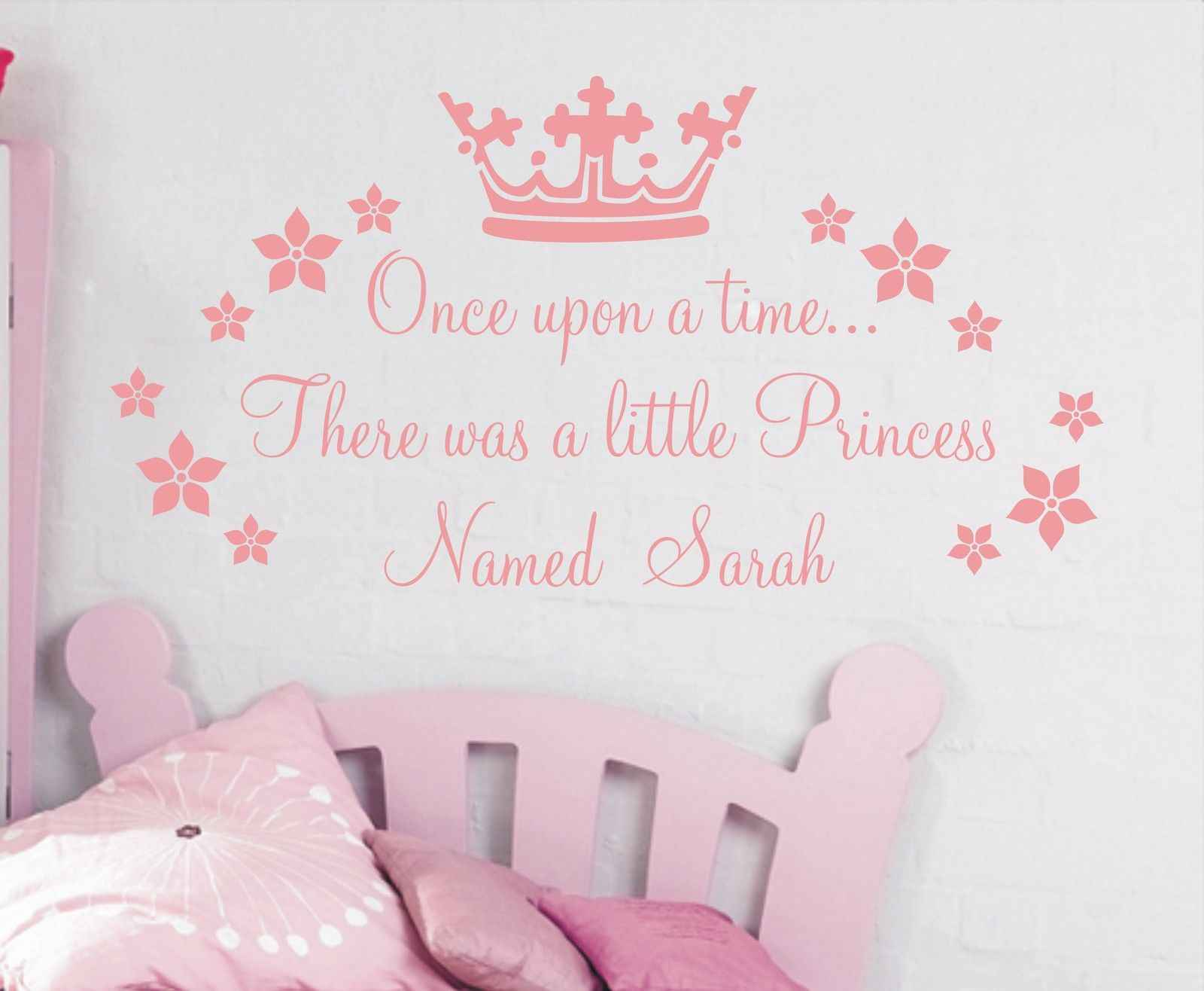 Once Upon a Time Princess Georgia Wall Sticker Decal Bed Room Art Girl//Baby