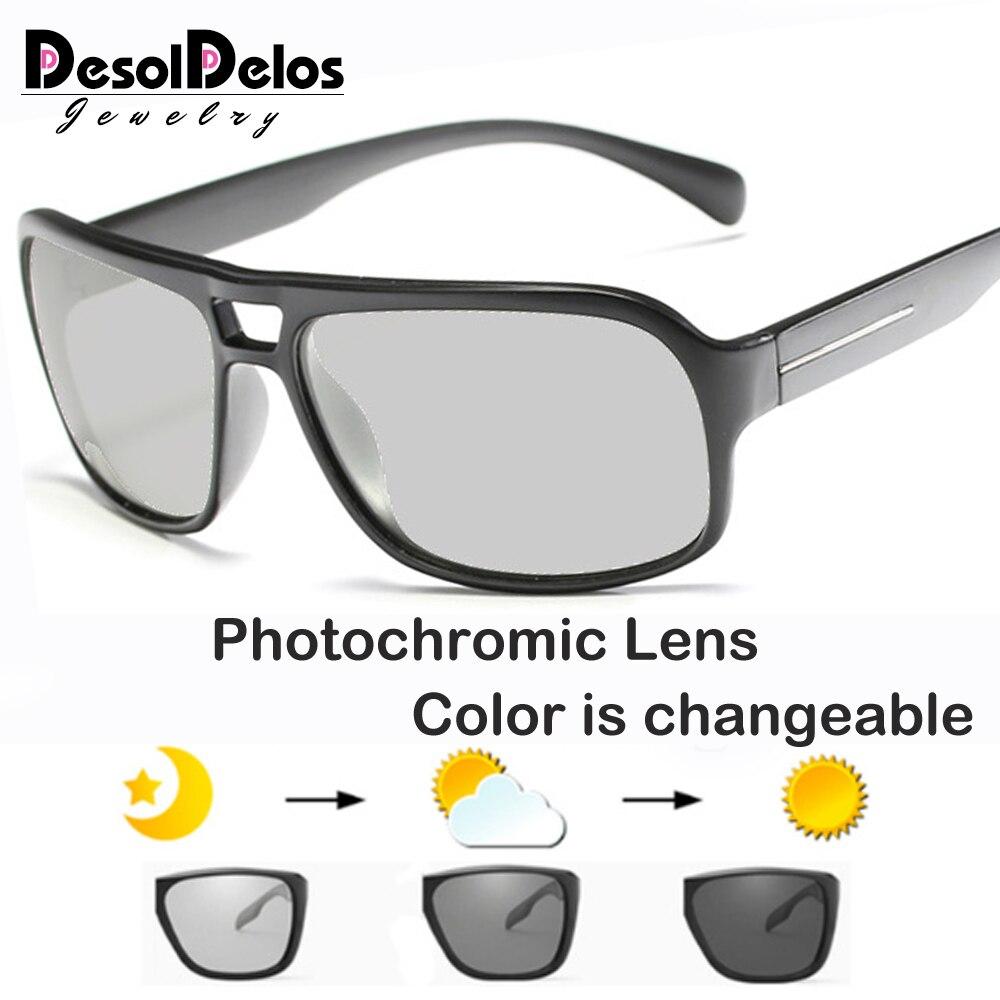 2019 Photochromic Sunglasses Men Polarized Sun Glasses Male HD Driving Goggles UV400 Chameleon Day Night Driving Goggles Gafas