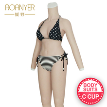 Roanyer silicone breast forms shemal whole body suits with arms C cup fake boobs body suits for crossdresser transgender roanyer silicone breast forms shemale whole body suits female artificial boobs with penetrable fake vagina for crossdresser