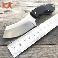 Ldt lâmina fixa lâmina faca 9cr18mov lâmina g10 lidar com facas de acampamento tático militar caça sobrevivência bolso faca edc ferramentas