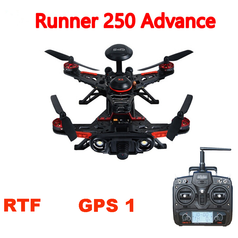 Walkera Runner 250 Advance GPS RC Racing Drone Quadcopter  with DEVO 7 /OSD / 800TVL Camera / Original box RTF GPS 1 Version f16823 sp racing f3 flight control deluxe 10dof mit m8n gps m8n gps osd combo diy mini 250 280 210 rc quadcopter drone fpv