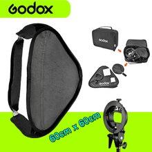 Godox 60x60cm Flash Softbox 60*60cm Kit With S-Type Bracket Bowen Mount Holder for Camera Photo Studio Vs Godox 40*40cm 50*50cm