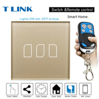 TLINK EU Standard 1 2 3 Gang 1 Way Smart Home Touch Switch Wall Light Gold