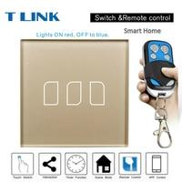 TLINK EU Standard 1 2 3 Gang 1 Way Smart Home Touch Switch Wall Light Gold
