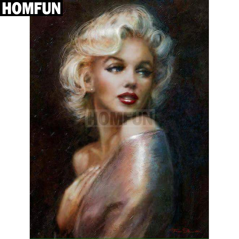 Home & Garden Homfun Full Square/round Drill 5d Diy Diamond Painting marilyn Monroe Embroidery Cross Stitch 5d Home Decor Gift A02186