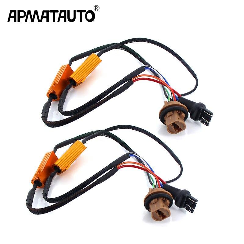2PCS Car LED Turn Singal Load Resistor 1156 BA15S PY21W 1157 BAY15D 7440 7443 50W Canbus Error Free Wiring Canceller Decoder