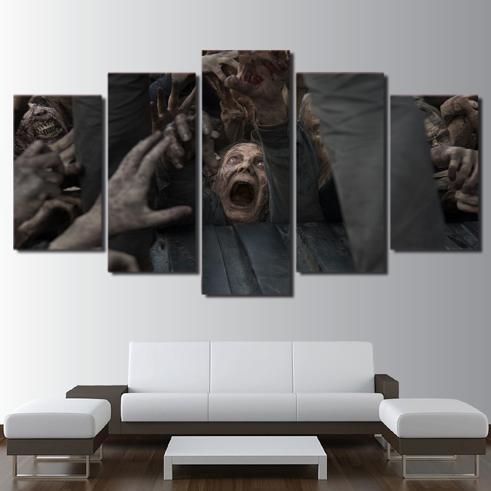 5 Stücke Leinwand Gemälde The Walking Dead Bild Print Poster Tv ...