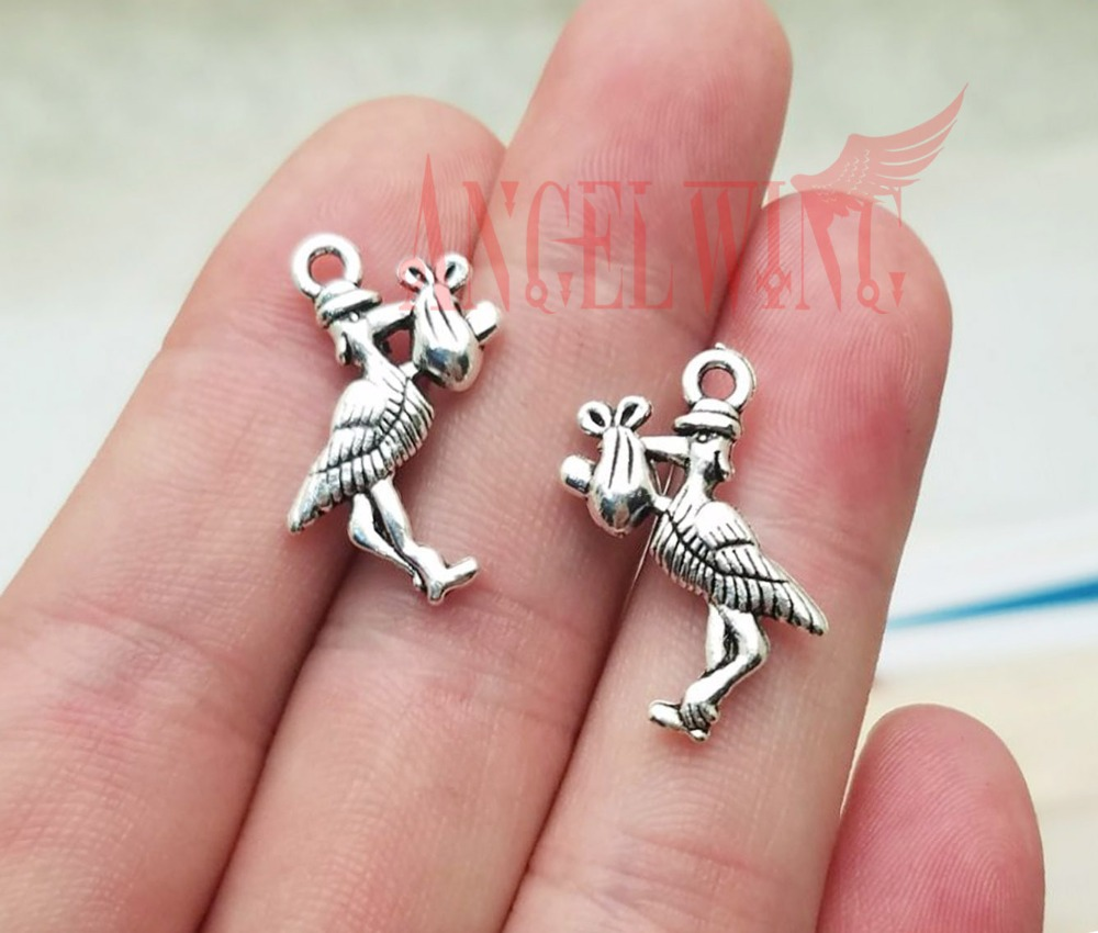 25pcs Baby Pacifier Charms Pendants Antique Silver Jewellery and Crafts