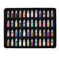 2016 Novas Mulheres 48 garrafas encantos da arte do prego kit contêm aleatória nail art pérolas/lantejoulas/glitter pó/acrílico/strass