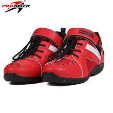PRO-BIKER Motorcycle Riding Short Shoes Leather Knight Riding Motorcycle Ankle Boots Men Women Moto Shoes ASIAN 38-45 EU Sizes