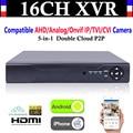 Обновление CCTV NVR 16CH Канала 1080 P CVI TVI AHD AHD DVR + 1080N 5-в-1 Видеорегистратор Совместим/Аналоговый/Onvif IP/TVI/CVI Камеры