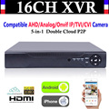 Upgrade CCTV 16CH Channel 1080P NVR AHD TVI CVI DVR+1080N 5-in-1 Video Recorder Compatibile AHD/Analog/Onvif IP/TVI/CVI Camera