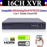 Vender Actualización CCTV 16CH canal 1080P NVR AHD TVI CVI DVR + 1080N 5-en-1 grabadora de vídeo compatible AHD/analógica/Onvif IP/TVI/CVI Cámara
