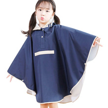 Yuding Childrens Rain Poncho Kids Impermeable Coat  Invisible Schoolbag Rainwear Boys Polyester Students Girls Capes