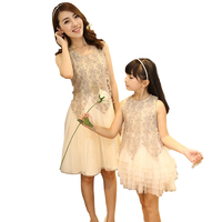 2019 mom and daughter dress princess wedding dress mommy and me family look dress matching mother daughter dresses clothes