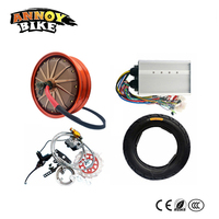 72v 84v 96v to 144v 4000w High Speed 85km/h Electric Hub Motor Electric Motorcycle Wheel DIY Electric Car Conversion Kit