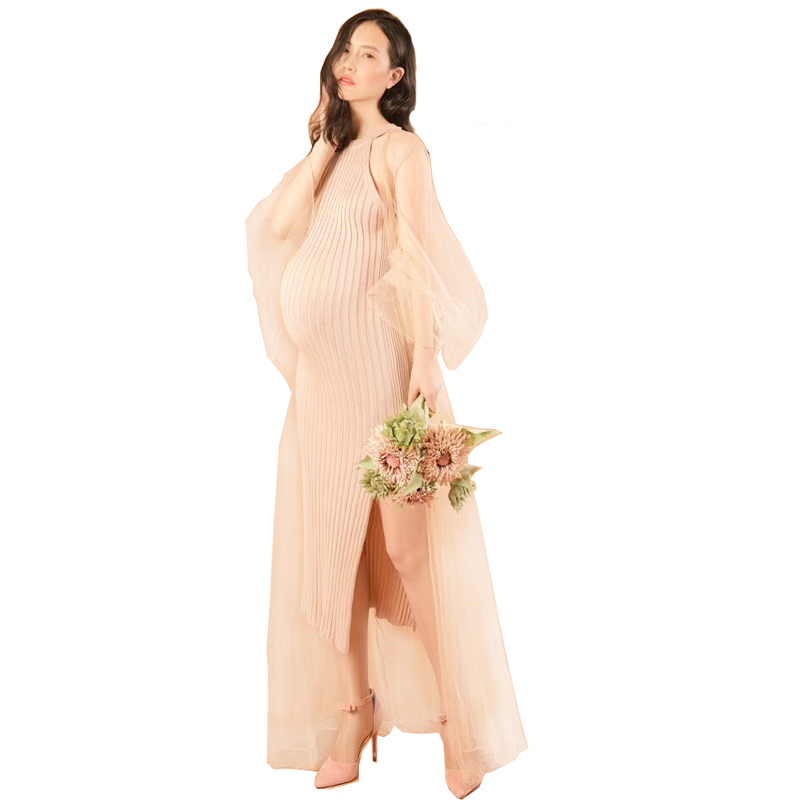 New Maternity Photography Props Pregnant Women Noble Long Elegant Fashion Close Dress Romantic Photo Shoot Fancy
