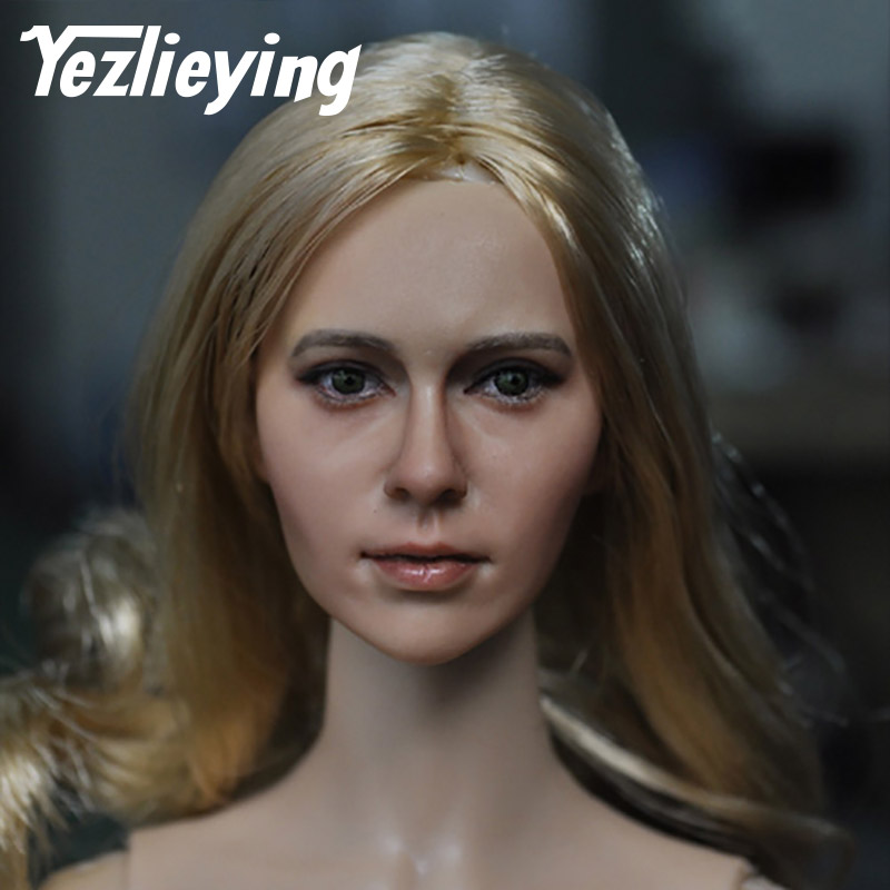 KUMIK 15-31 Women's Head Sculpture Model 1/6 Scale Heads Sculpture Style Custom Women's Girls Fit 12 Inch Phicen Action Figure купить недорого в Москве