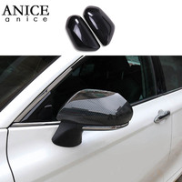 2pc Carbon fiber grain ABS Rear View Side Mirror Cover Trim Cap Overlay For toyota Camry 2018 2019