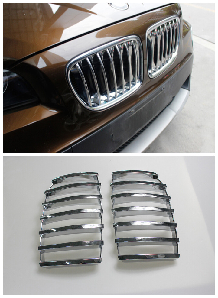 FOR BMW X3 F25 2011 - 2015 ABS Chrome Exterior Front Center Grille Grill FrameTrim 2pcs Glossy NEW Arrival ! car protector front center grille cover racing grill frame replacement abs chrome for toyota camry le xle 2010 2011