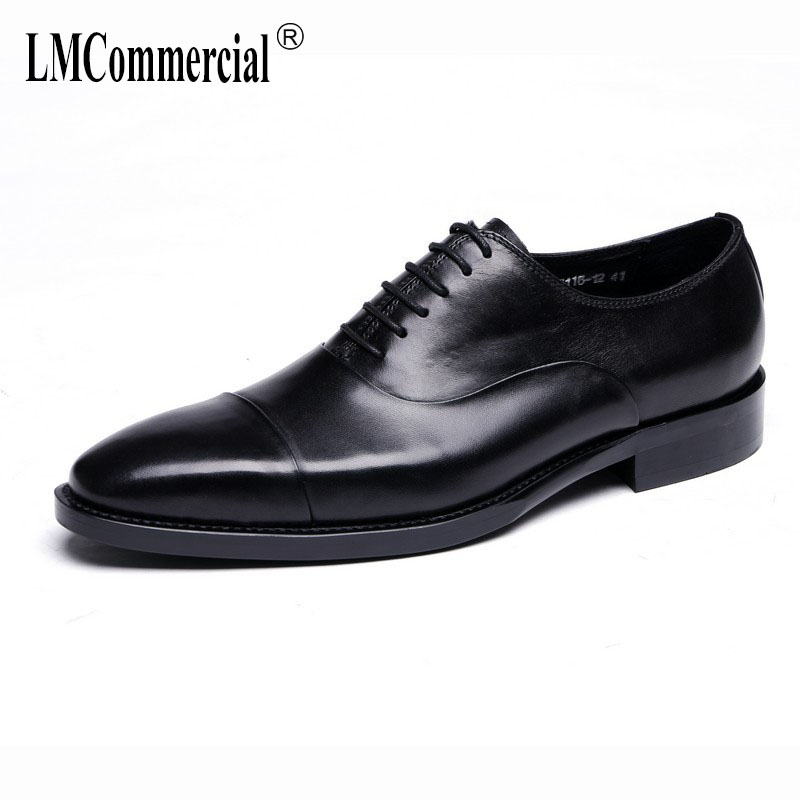 Classic British business dress men's shoes head layer cowhide square head with leather shoes uniform shoes single male