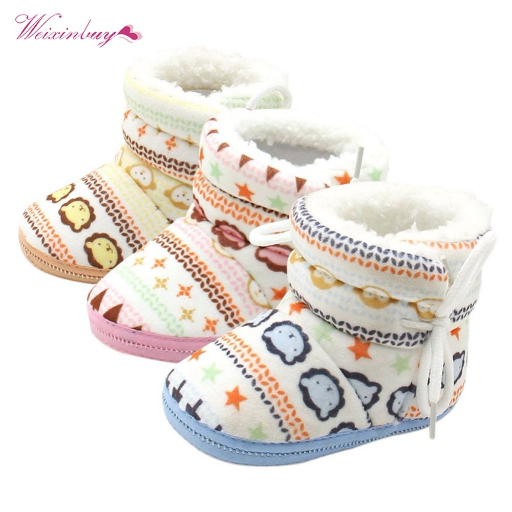 Winter Warm Baby Booties Infants Girl Boy Soft Crib Shoes Newborn Snowshoes