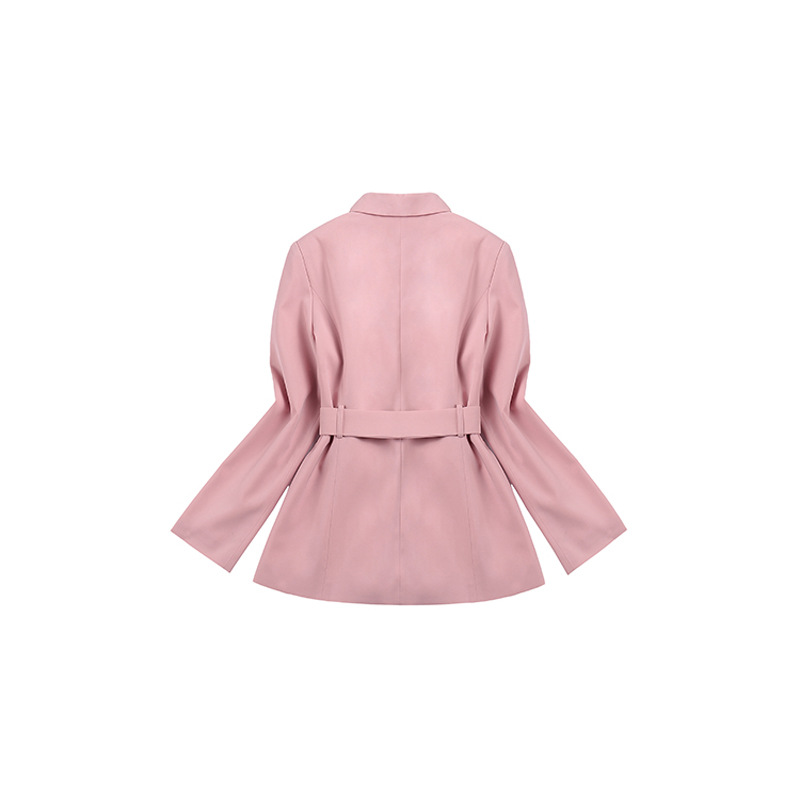 2019 Spring New Suit Star with Office Lady Smoke Pink Small Suit Pleated Skirt Pants Fashion Wild Female Women 2 Piece Set