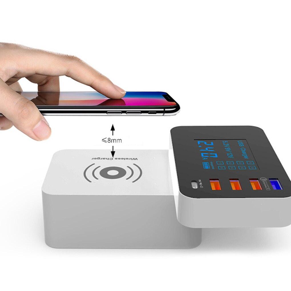 LED affichage chargeur sans fil Charge rapide 3.0 chargeur intelligent USB type-c chargeur de Charge rapide adaptateur de bureau