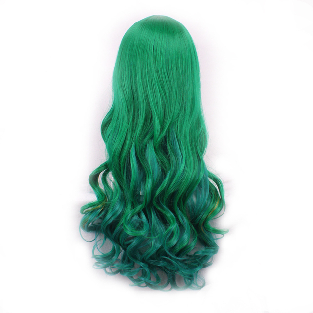 Green synthetic curly heat resistant