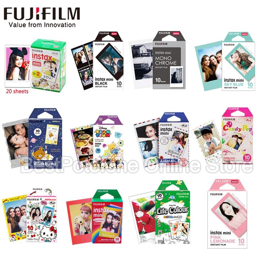 10-100 blätter Fuji Fujifilm instax mini 9 8 weiß Rand filme Farbe Fims für instax Instant Kamera mini 8 9 7 s Foto papier