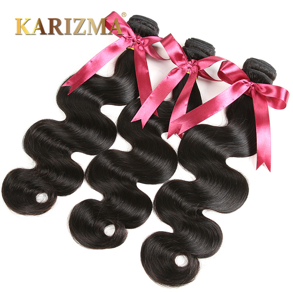 Indian Virgin Hair Body Wave 4 Bundle Deals Raw Indian Hair 10A Unprocessed Indian Body Wave Human Hair Indian Wavy Virgin Hair
